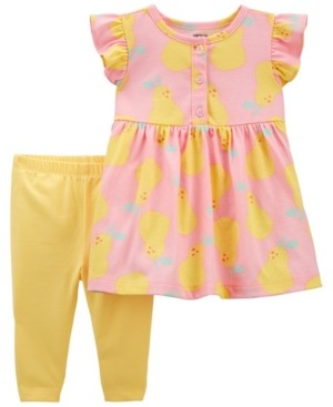 Carter's Baby Girls Lemon Dress and Legging Set, 2 Pieces