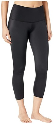 Beyond Yoga Compression High Waisted Capri Leggings (Black) Women's Casual Pants