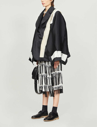 Comme des Garcons Patchwork oversized woven blazer