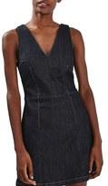 Topshop Women's Denim Fit & Flare Dress