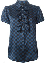 Marc by Marc Jacobs ruffled bib checkboard shirt