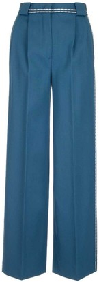 Fendi Contrasting Piping Palazzo Trousers