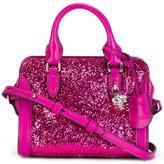 Alexander McQueen mini 'Padlock' glitter crossbody bag - women - PVC/Leather - One Size