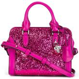 Alexander McQueen mini 'Padlock' glitter crossbody bag