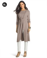 Chico's Tie-Front Duster Jacket