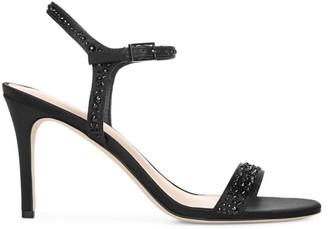Via Spiga Madeleine Embellished Satin Sandals