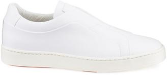 Santoni Men's Pass Soft Leather Slip-On Sneakers