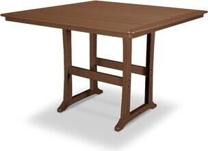 "Polywood Nautical Bar Table Color: Teak, Table Size: 59.5"" W x 59.38"" L x 42"" H"
