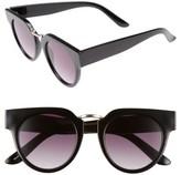 BP Women's 48Mm Round Sunglasses - Black