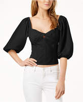 1 STATE 1.STATE Cropped Puffed-Sleeve Top