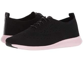 Cole Haan 2.Zerogrand Stitchlite Oxford (Black Knit/Leather/Pale Lilac) Women's Shoes
