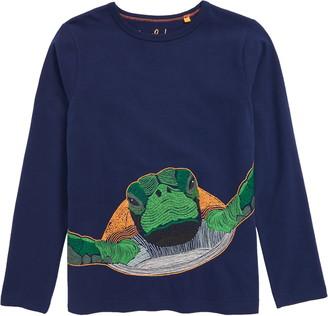 Boden Mini Superstitch Turtle Long Sleeve T-Shirt