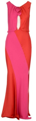 Lanvin Two-Tone Heart Detail Maxi Dress