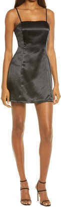 Lulus Start The Party Sleeveless Satin Minidress