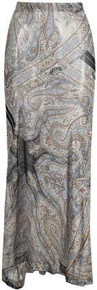Comme Des Garçons Pre-Owned 2000s Paisley Print Sheer Silk Maxi Skirt