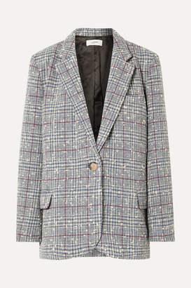 Etoile Isabel Marant Kice Checked Wool-blend Boucle Blazer - Light blue