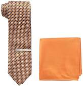 U.S. Polo Assn. Men's Print Tie, Pocket Square And Tie Bar Set