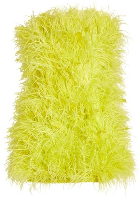 ATTICO The Ostrich Feather Mini Dress