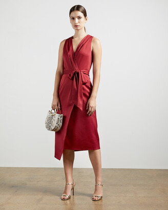 Ted Baker CHRISEY Fixed wrap midi dress