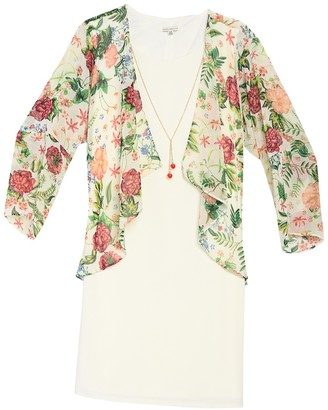 Tash + Sophie Floral Print Jacketed Dress (Plus Size)