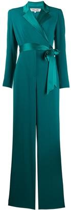 Diane von Furstenberg Wrap Front Belted Jumpsuit