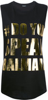 Balmain #DoYouSpeakBalmain tank top - women - Cotton - 36