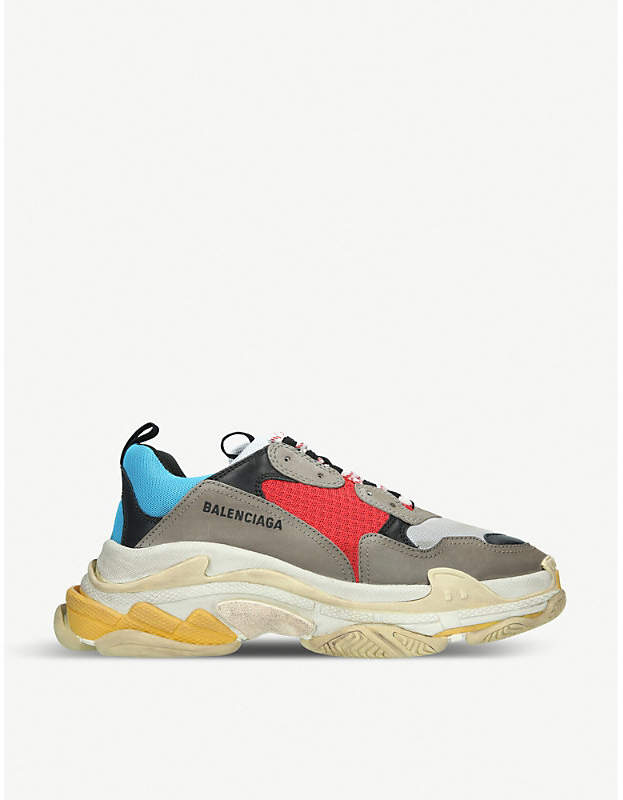 Balenciaga Triple S Runner leather and mesh trainers