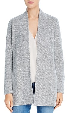 Eileen Fisher Petites Organic Cotton Open-Front Cardigan