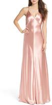 Jill Stuart Deep V Satin Slip Gown