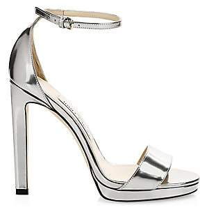 Jimmy Choo Women's Misty Metallic Leather Stiletto Sandals