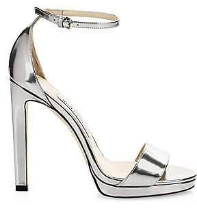 Jimmy Choo Women's Misty Metallic Leather Ankle-Strap Sandals