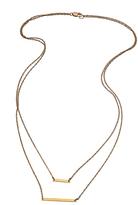 Joie Jennifer Zeuner Cynthia Double Bar Necklace