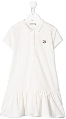 Moncler Enfant Logo Patch Polo Dress