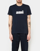 Ami Printed Crew Neck T-Shirt