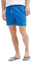 Ringspun Mens Sphere Mid Length Swim Shorts Mid Blue