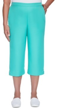 Alfred Dunner Miami Beach Cropped Pull-On Pants