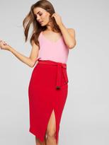 Portmans Split Front Tie Skirt