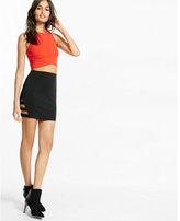 Express high waisted cut-out mini skirt
