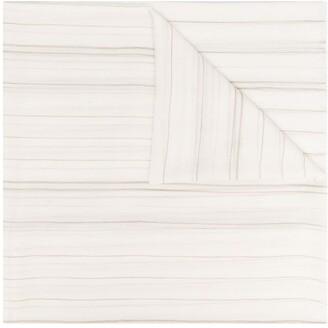 Brunello Cucinelli Striped Cashmere Scarf