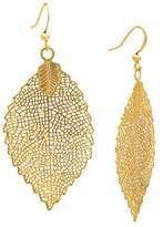 Leaf Drop Earring - Gold