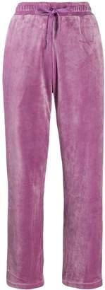 Fila velvet side stripe trousers
