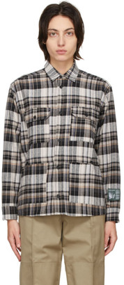 Reese Cooper Brown Flannel Shirt