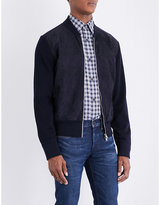 Tom Ford Suede-detailed wool bomber jacket