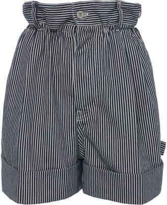 Miu Miu Pleated Striped Shorts