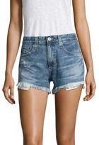 AG Jeans Sadie High-Rise Frayed Denim Shorts
