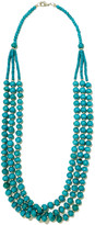 Kenneth Jay Lane Bead and silver-tone necklace