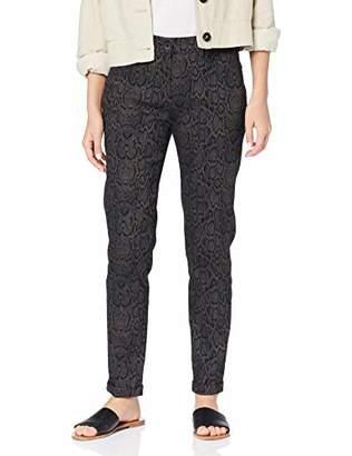 Brax Women's Maron Snake Jacquard 7/8-hose Slim Fit Modern Trouser,20 (Size: )