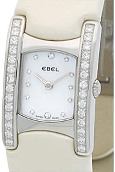 "Ebel Stainless Steel Diamond "" Beluga Manchette"" Womens Watch"