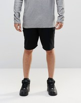 Asos Slim Fit Jersey Shorts With Zips In Black