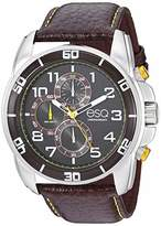 ESQ Men's Stainless Steel Chronograph Watch w/ Leather Strap FE/0211